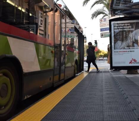 Movilidad concluye las obras de accesibilidad en 23 paradas de autobuses de Elche para garantizar un mejor servicio a los usuarios
