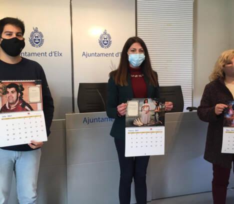 Fiestas presenta el calendario solidario de Pobladores cuya recaudación se destinará a Integra-T