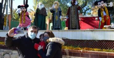 Los Reyes Magos también reciben desde hoy a los niños en la Rotonda del Parque Municipal