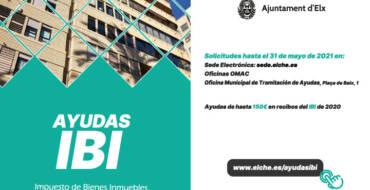El Ayuntamiento abre hoy el plazo de presentación de solicitudes de ayudas para el pago del IBI hasta el 31 de mayo