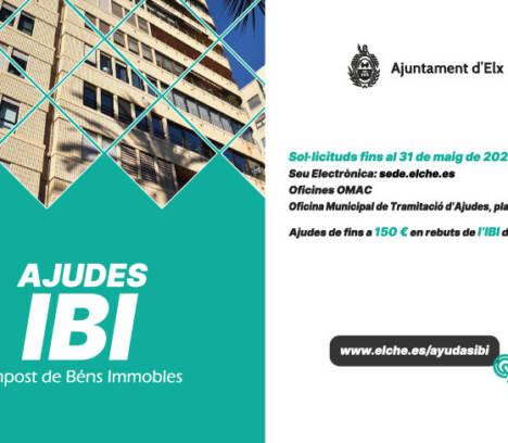 L'Ajuntament obri hui el termini de presentació de sol·licituds d'ajudes per al pagament de l'IBI fins al 31 de maig