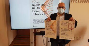 Comercio anima a la ciudadanía a comprar en las librerías de proximidad con la campaña 'Per Sant Jordi, guanyem-li al Drac, comprem llibres a Elx'