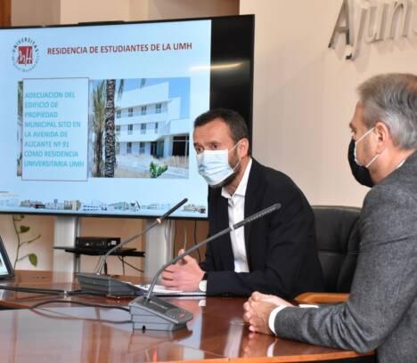 Acord entre l'Ajuntament i la UMHE per a habilitar en l'edifici de l'alberg juvenil una residència universitària