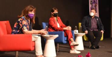 Mabel Lozano presenta en el Centre de Congressos el curt documental guanyador del Goya 'Biografía del cadáver de una mujer'