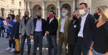El alcalde de Elche se une a la manifestación de regantes en Madrid y reclama al Gobierno diálogo y que frene los recortes del Trasvase Tajo-Segura