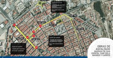 Plan de asfaltado en barrios San Crispín, Camí del Magros y Carrús.