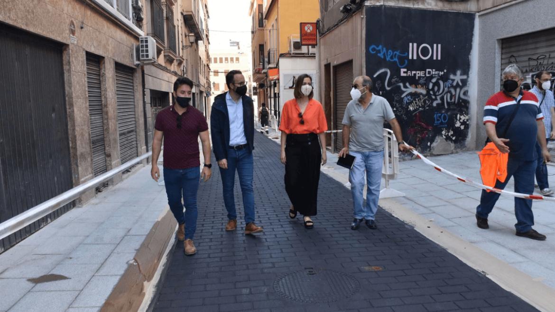 El carrer Fatxo obri el dimecres convertit en una via de prioritat per als vianants