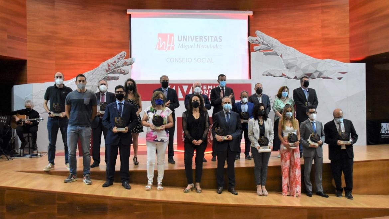 L'alcalde i la regidora d'Universitat participen en la XIV edició dels Premis del Consell Social de la UMH