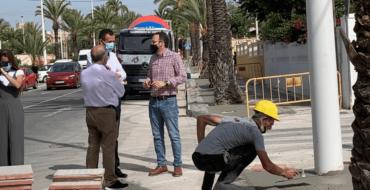 Nuevo impulso al plan de modernización de El Altet con la renovación de aceras en seis calles de la pedanía