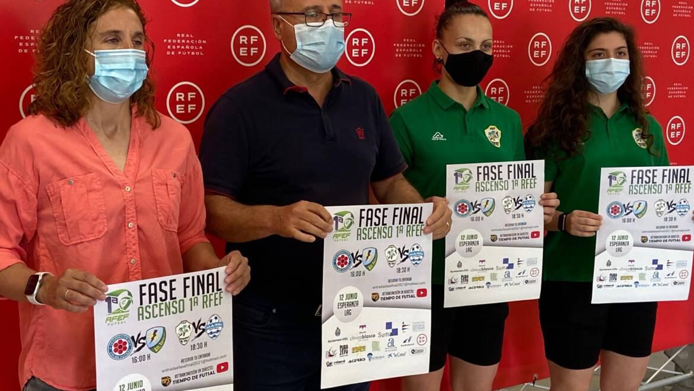 Presentación de la Fase Final de Ascenso a 1ª División de Fútbol Sala Femenino