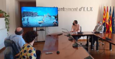 El Ayuntamiento y Aigües d'Elx inauguran el Depósito de Arenales del Sol y El Altet con un vídeo en el que se muestra paso a paso cómo fueron los avances de las obras