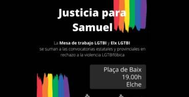 L'Ajuntament dona suport a la concentració en repulsa contra l'assassinat del jove corunyés Samuel