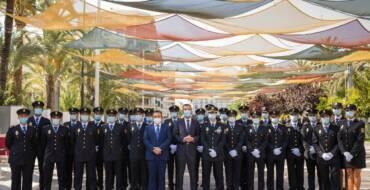 L'alcalde d'Elx destaca el paper de la Policia Nacional en la defensa dels drets i llibertats durant la jura de 205 nous agents
