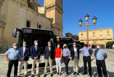 Elche incorpora cinco nuevos autobuses híbridos a su flota en su firme apuesta por la movilidad sostenible y mejora de los servicios públicos