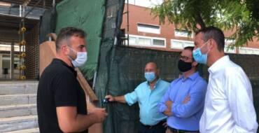 El alcalde de Elche anuncia el inicio de las obras de rehabilitación de la fachada del instituto de Torrellano
