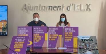El Ayuntamiento de Elche lanza una campaña contra el consumo de alcohol entre los menores y otra para concienciar sobre la violencia machista