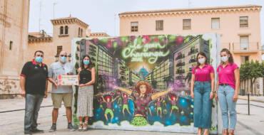 José Gacel gana el concurso de grafiti convocado por la Federación Gestora de Festejos Populares en conmemoración a la Gran Charanga ilicitana
