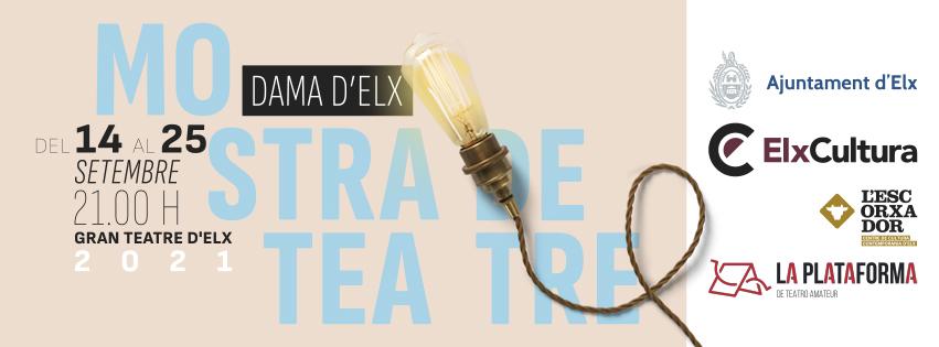 Un total de 175 personas actuarán en la XXVI Mostra de Teatre Dama d'Elx que se celebrará del 14 al 25 de septiembre en el Gran Teatro