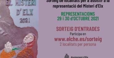 El Ayuntamiento de Elche sortea cuatro entradas para las representaciones del Misteri d'Elx los días 29 y 30 de octubre