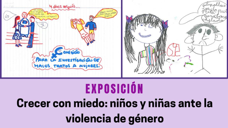 Los dibujos realizados por niños y niñas víctimas de violencia de género protagonizan una exposición en Las Clarisas
