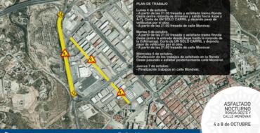 PLAN DE TRABAJO por asfaltado de Ronda Oeste y calle Monóvar