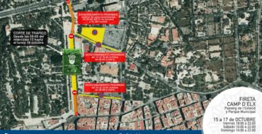 Cortes de calle o limitación de estacionamiento por la Fireta del Camp d'Elx