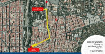Cortes de calle o limitación de estacionamiento previstos